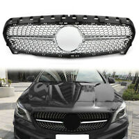 Front Diamond Star Grille Grill For Benz R117 W117 CLA CLA250 2013-15 Silver A01