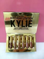 Kylie Mini Matte Liquid Lipstick 6 Pc Set Birthday Edition New in Box Authentic
