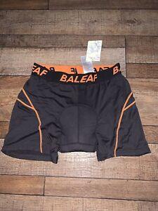 NWT Men's XL Baleaf Black & Orange Padded Bicycle shorts