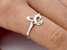 .925 Sterling Silver Ring size 11 Butterfly Knuckle Fashion Kids Ladies New p91