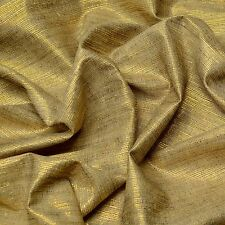 "Gold Lurex Metallic & Tassah Silk Fabric, 44"" Wide, By The Yard (WT-218C)"