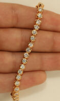 TENNIS BRACELET 6.00 CTW ROUND CUT DIAMOND 14K YELLOW GOLD FINISH Gift