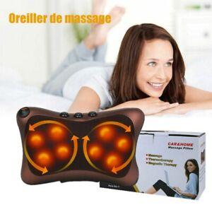 Coussin de Massage électrique Shiatsu oreiller de Pétrissage dos cou Chauffage