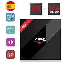 H96 PRO+ 3G 32G Android 6.0 TV Box Amlogic S912 Bluetooth4.0 KODI 16.1 H.265 4K