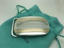 Tiffany Co Sterling Silver 14k Gold Stripped Belt Buckle
