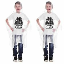 Set of *2* Star Wars Darth Vader Clear Hooded Rain Ponchos, Kids Youth