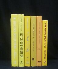 New listing Decorative 6 Book Lot Yellow Spines Modern Farmhouse Display Staging Freeship