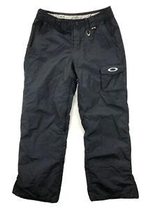 Oakley Mens Small Road Fuel 3 Black Cargo Mesh Lined Ski Snowboard Snow Pants