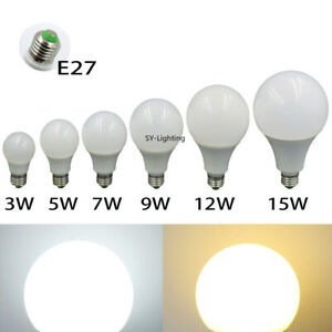 1-10x E27 LED Light 3W 5W 7W 9W 12W 15W Globe Lamp DC12V-24V ball Bulb Lighting