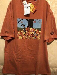 🐾NWT MEN 2XL KLIBAN CAT AUTUMN Leaves Kilban Crazy Shirt Hawaii PUMPKIN Dye S/S
