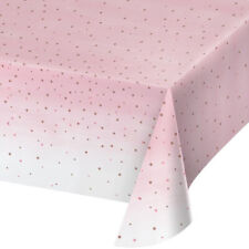 WEDDING Rose All Day PLASTIC TABLE COVER ~ Birthday Party Supplies Decoration