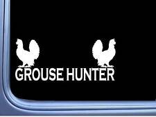Grouse Hunter L786 8 inch Sticker bird hunting vest pointer Decal