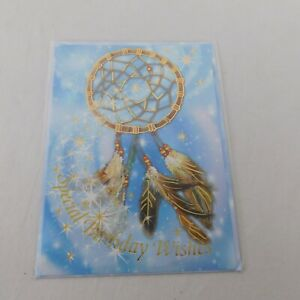 Special Birthday Wishes Greeting Card Blue Star Sky Dreamcatcher Native American