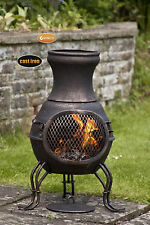 Billie cast iron chimenea garden patio heater fire woodburner