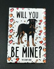 Beauceron Dog and Hearts Magnet Handmade Valentines Day Gifts and Holiday Decor