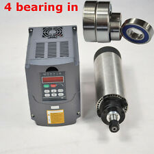 65MM DIA AIR-COOLED MOTOR SPINDLE 1.5KW ER11 FOUR BEARING AND INVERTER DRIVE VFD