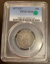 1877CC Seated Liberty Quarter PCGS XF45