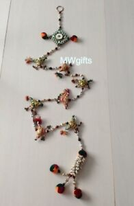 String of White Shells, Jingle Bells and Beads Long Wall/Window/Door Decor