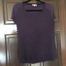 Ladies Reiss Purple Blouse Top Size XS Excellent