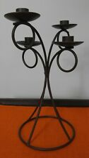 Taper Candle Holder Quad Rustic Modern Decor Wrought Iron