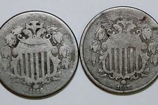Fast  Shipping: (1) 1866 w/Rays About Good & (1)  1867 No Rays AG/Good (NUM2176)