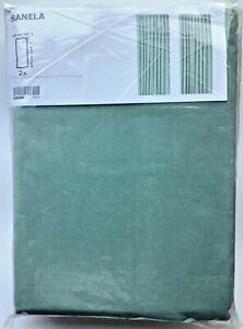 "New IKEA SANELA Room darkening curtain, 1 pair(2 panels), light green 55 x 118 """