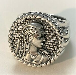 BARRY KIESELSTEIN CORD STERLING SILVER RAPUNZEL THE DAY PRINCE ARRIVED RING SZ 8