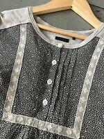 IKKS 12 ans 🌸 Blouse hiver fille bimatière gris