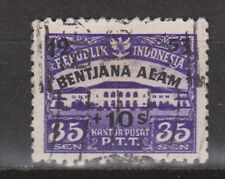 Indonesia Indonesie  117 used gestempeld 1953 Victims of flood in Atjeh