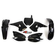 Racetech Plastics kit BLACK  KAWASAKI KX125 KX250 2003 - 2008