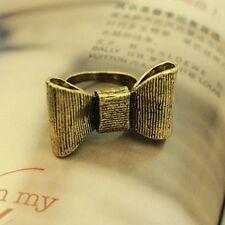 Grueso vintage retro estilo bronce ajustable anillo de arco