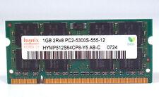 Hynix HYMP512S64CP8-Y5 AB-C Laptop Sodimm RAM Memory 1GB DDR2 PC2-5300S-555-12