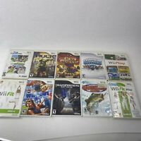 Wii Game Lot 10 Games Untested Poor-good Condition As Is