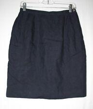 Jones New York Womens Size 8 Navy Blue Just Below The Knee Pencil Skirt