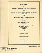 PILOT'S NOTES: US BELL AIRACUDA FIGHTER-BOMBER 55pps+FREE 2-10 PAGE INFO PACK