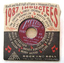 RECORD PIN 45rpm Hall of Fame 1987 B.B.King Aretha Franklin Meteor Label Ltd Ed
