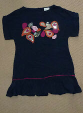 NWT Jack & Milly Girls Embroidered Sequins Navy Party Dress Size 4
