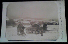 Carte photo 1914-1918 Louvois parc du CVAD 37 par la neige soldat
