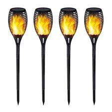 4Pack Solar LED Flackernde Landschaft Lampen Tanzen Flamme Fackel Garten Lichts