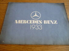 MERCEDES BENZ RANGE 1933 - 170, 200, 260,  290, 370, NURBURG SS BROCHURE jm
