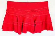 TOPSHOP Womens Red Mini Skirt Size 14