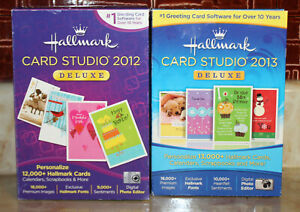 Lot of Hallmark Card Studio Deluxe 2012 & 2013 for Windows XP, Vista, 7, 8 (2013