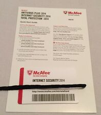 New McAfee Internet Security 2014 Full Version Retail Key Card Windows