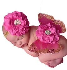Baby Butterfly Wings & Headband Set - Hot Pink - Photo Props