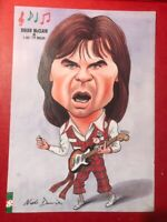 MANCHESTER UNITED - BRIAN McCLAIR - CARICATURE - 1996 PUBLICATION A4 PAGE - VGC