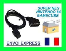 Cable PERITEL RGB N64 GAME CUBE SUPER NINTENDO - neuf
