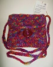 SMALL MULTI-COLOUR HAND WOVEN WOOL SHOULDER BAG (lined) unused with tag
