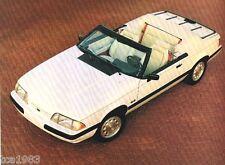1990 Ford Brochure:Mustang,Taurus,T -Bird,Tempo,Probe,Escort,L td,Festiva,Aerostar