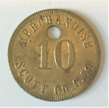 SCOTT CO. C. CO. 10 cent COAL SCRIP has 16 STARS R8 of HELENWOOD, TENNESSEE