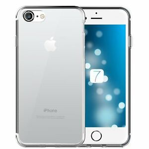 Transparent Case Cover for iPhone 5 5c 5s if 6 6s 7 Plus + Film Glass